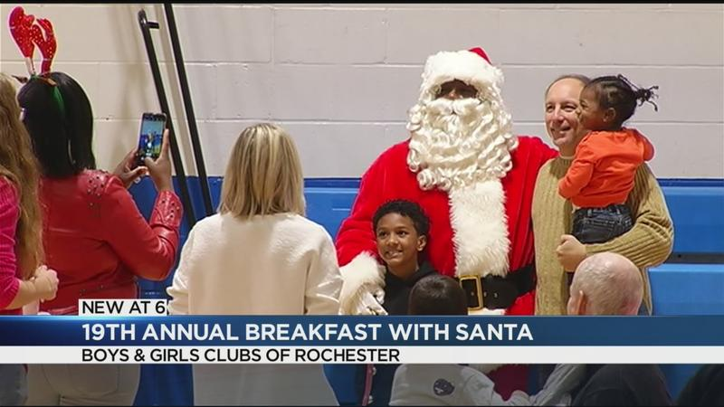 Santa Claus returns to Rochester for annual Breakfast with Santa