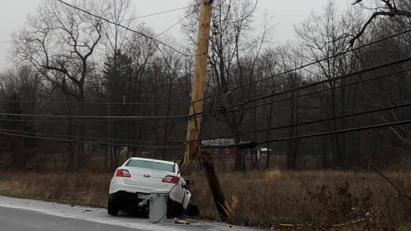 Crash on Ballantyne Road leaves homes without power