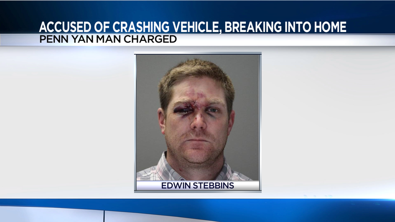 Deputies: Penn Yan man crashed his car, broke into home in Ontario County