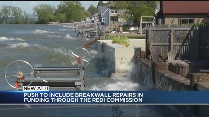 Lake Ontario shore residents pushing for funding for breakwall damage