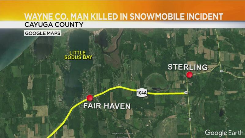 Wayne County man dies after snowmobile falls through ice