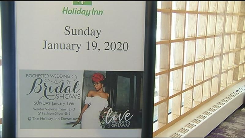 Bridal fashion and wedding planning on display at bridal show