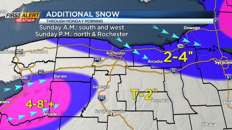Yellow Alert: Lake effect snow showers continue
