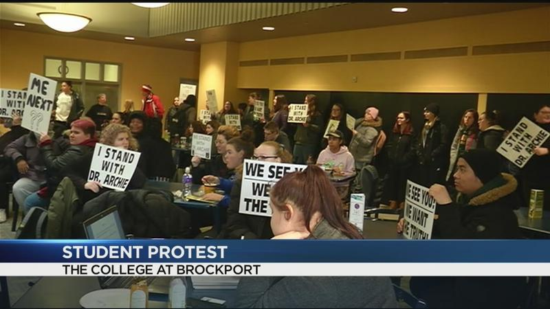 Brockport students protest firing of chief diversity officer