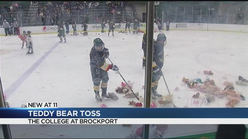 College at Brockport holds first-ever Teddy Bear Toss