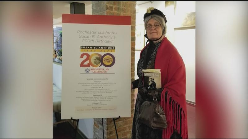 Rochester in Focus: Susan B. Anthony impersonator celebrates centennial of women's suffrage