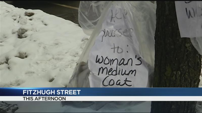 Who is the good Samaritan giving away winter coats downtown?