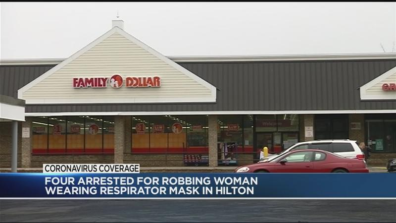 Four arrested for robbing woman wearing respirator mask in Hilton