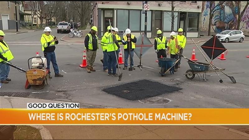 Good Question: Where is Rochester's pothole machine?
