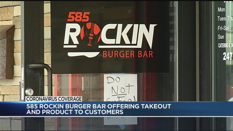 Open for Business: 585 Rockin' Burger Bar selling raw products for those who want to avoid grocery store crowds