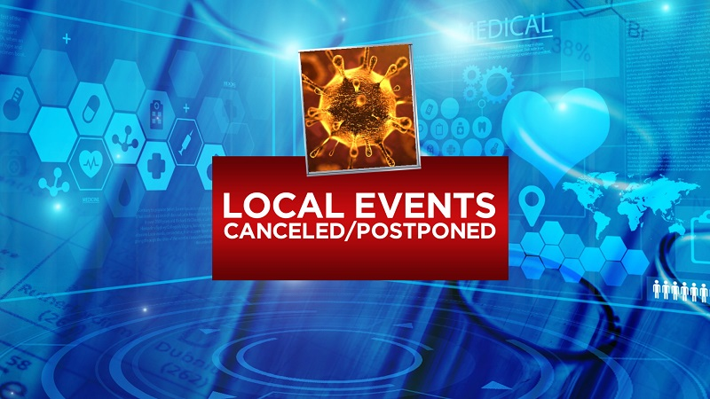 LIST: Local events canceled or postponed due to coronavirus