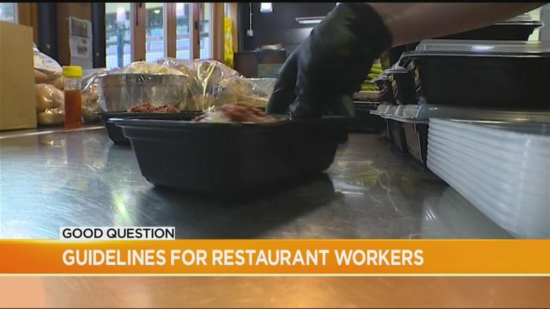 Good Question: Are restaurant employees required to wear gloves and masks?