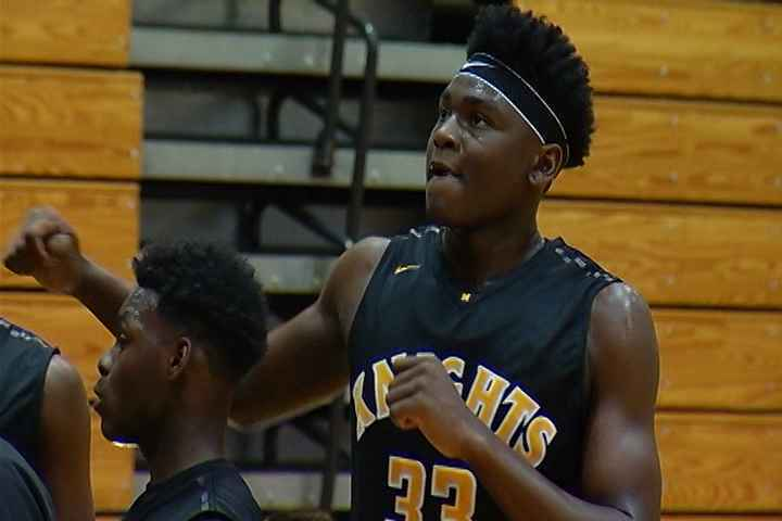 Photo of Isaiah Stewart when he played for the McQuaid Knights