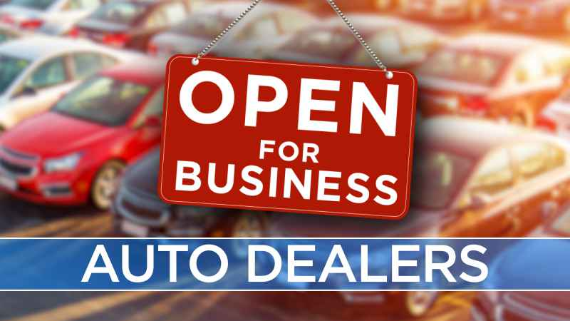 Auto dealers open for business