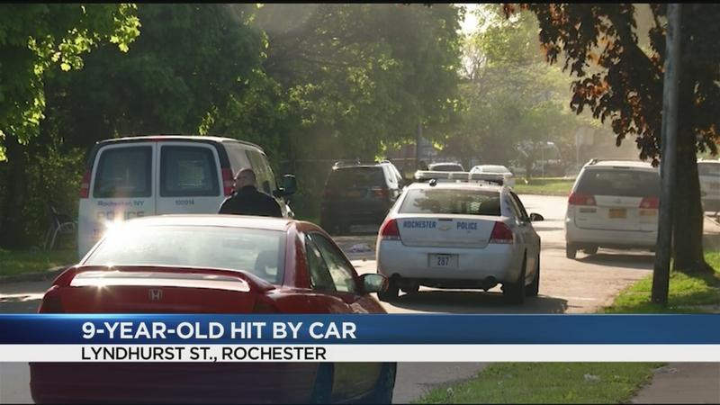 9-year-old in critical condition after being struck by car in Rochester
