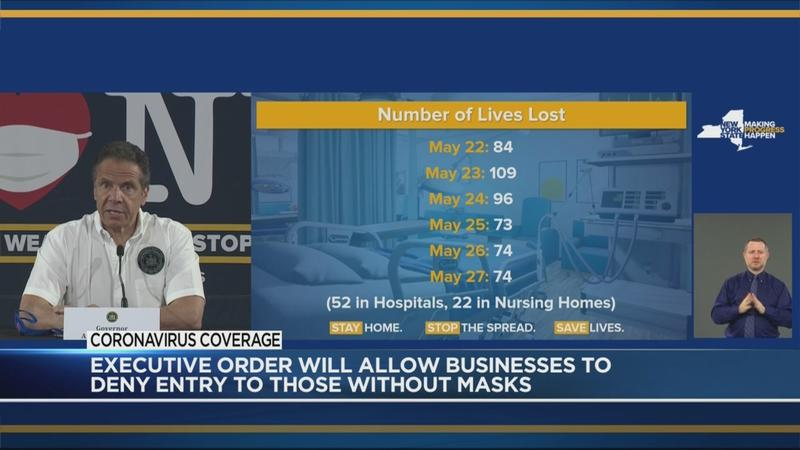 Cuomo to sign executive order authorizing businesses to refuse customers not wearing masks