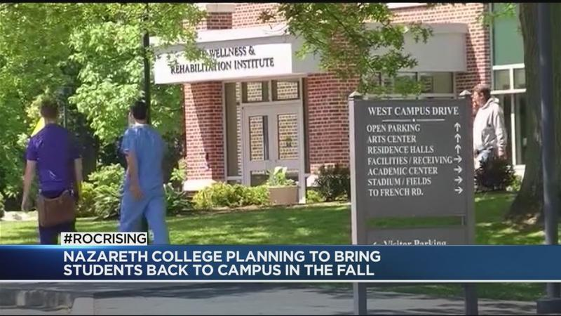 Nazareth College says it's planning fall semester with in-person classes