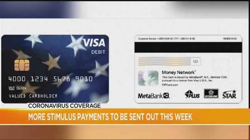 Debit card stimulus payments expected this week