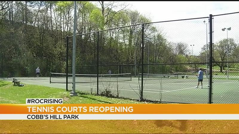 Tennis players hit the court in phase 1 reopening