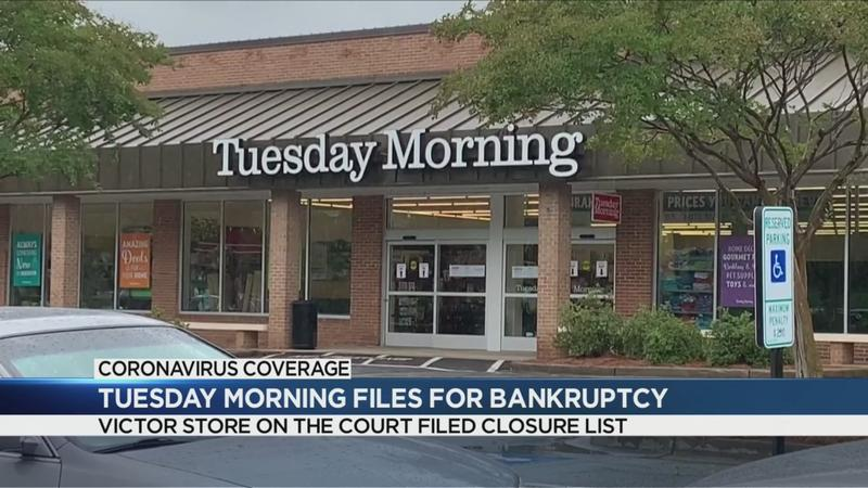 Tuesday Morning filing for Chapter 11 bankruptcy, Victor store listed to close
