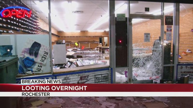 Businesses hit in overnight looting across Rochester; Sunday night curfew in Monroe County
