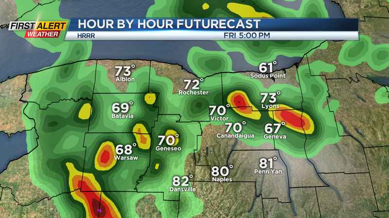 Yellow Alert issued for Friday: Heavy rain, gusty winds and hail possible