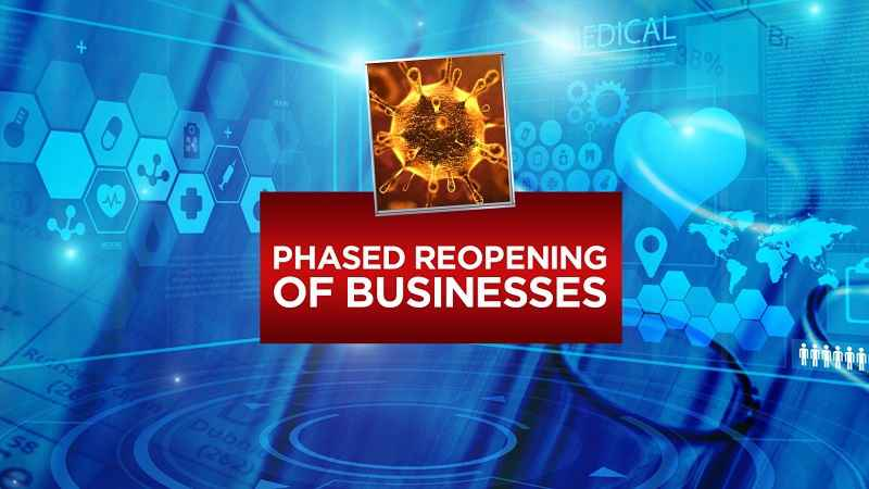 What businesses can reopen in each phase?