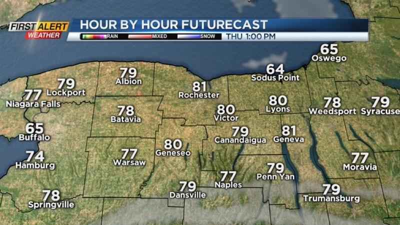 First Alert Weather Snapshot: Thundershowers end, dry Thursday