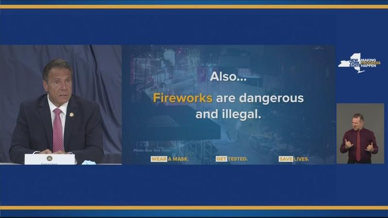 Cuomo on increase in illegal fireworks