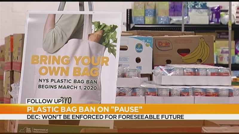 DEC: Plastic bag ban won't be enforced for foreseeable future