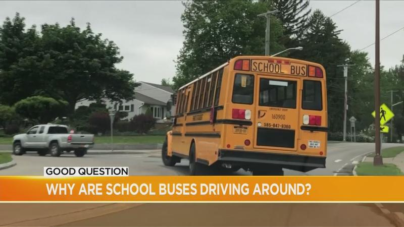 Good Question: Why are school buses driving around?