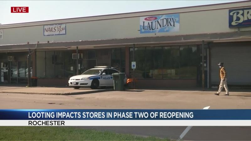 Looters cleaned out Goodman Plaza in Rochester on Saturday night