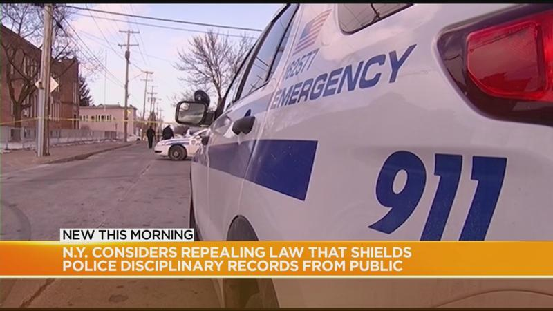 NY lawmakers consider repealing law that shields police disciplinary records from public