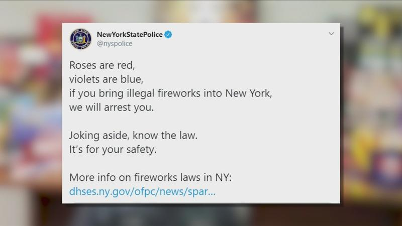 State Police get poetic to warn about fireworks