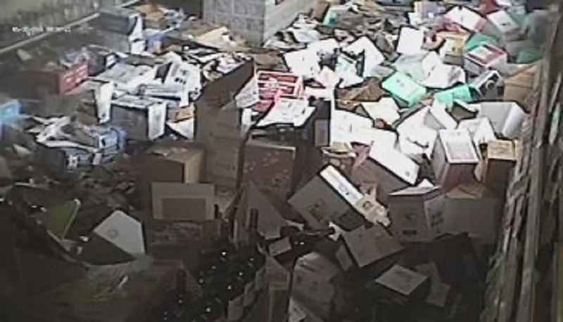 Surveillance photo of the aftermath of the looting.
