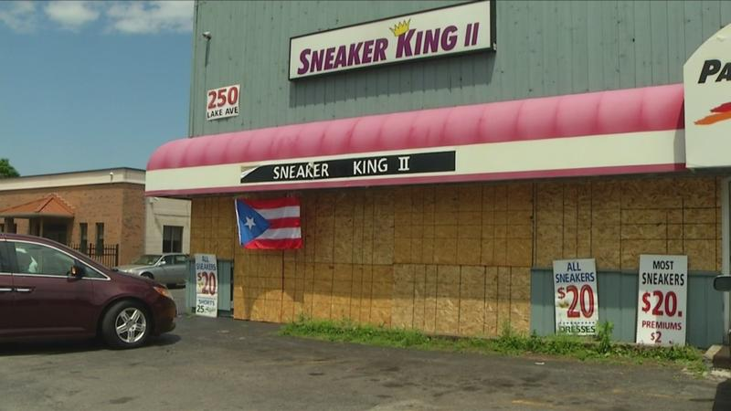 One looted store holding going out of business sale