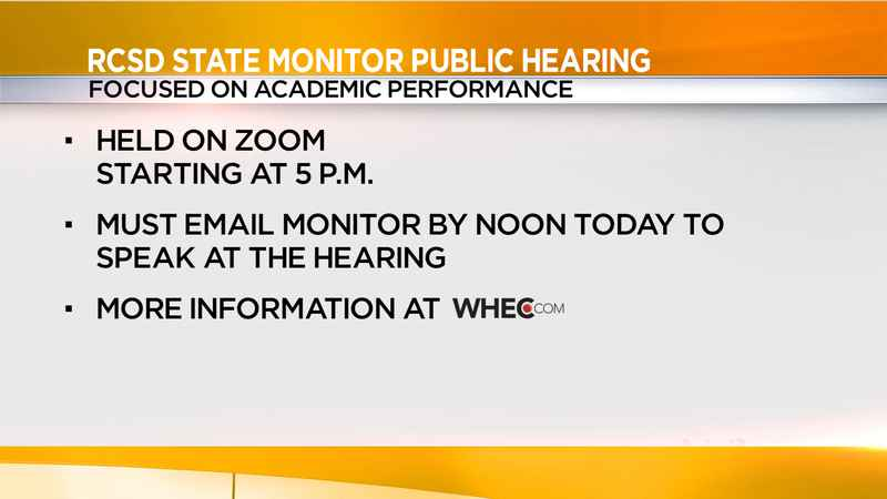 RCSD state-appointed monitor to hold public hearing Wednesday