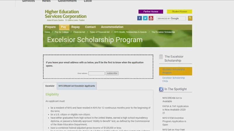 SUNY tuition bill looming, Excelsior Scholarship app still closed, Gov's office says 'opening soon'