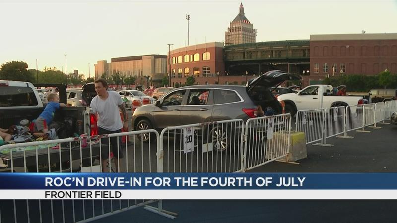 Some celebrate 4th of July at Frontier Field drive-in