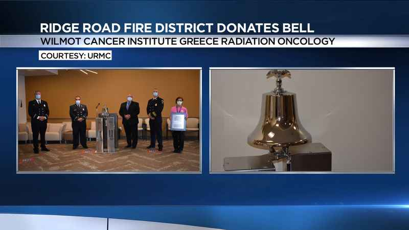 Ridge Road Fire District donates bell to Wilmot Cancer Institute