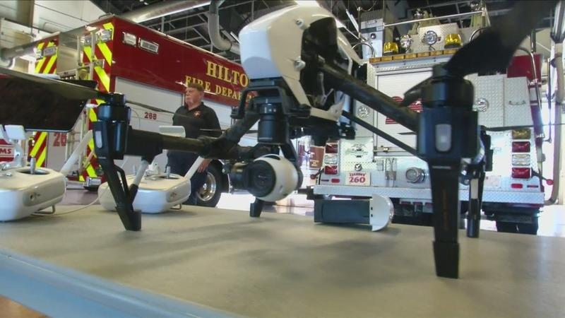 Hilton Fire Department takes to the skies with drone technology