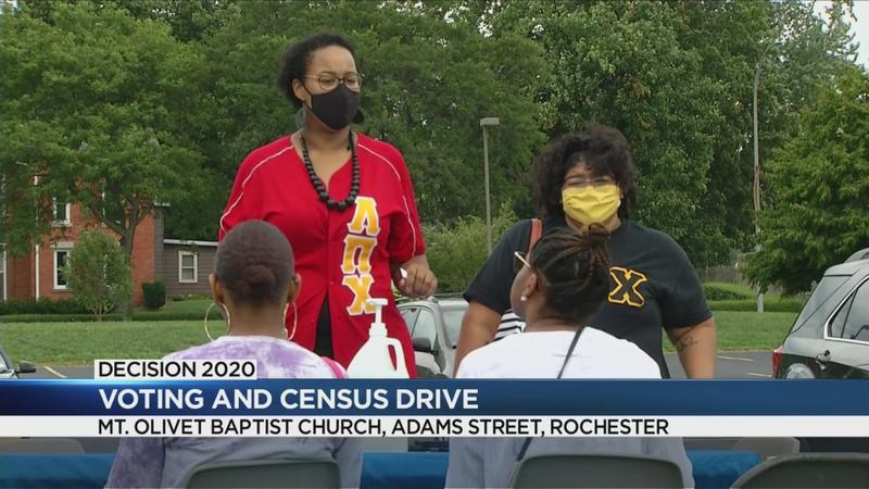 Rochester fraternity holds event for voter registration, census