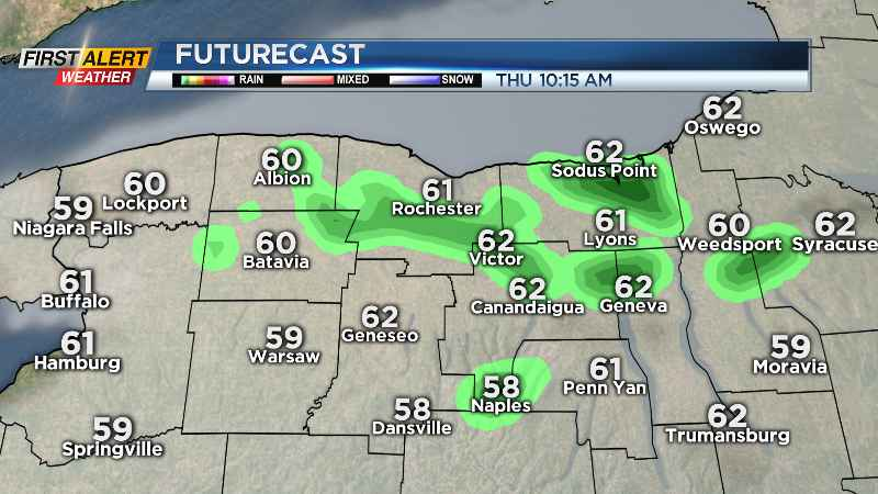First Alert Weather: A few showers, cooler air Thursday