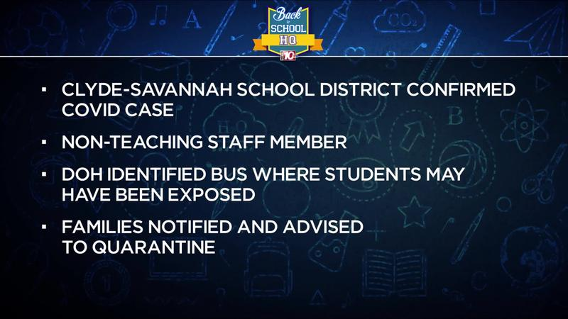 Clyde-Savannah School District reports positive COVID case
