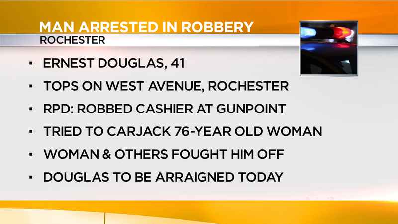 Rochester man arrested in West Avenue Tops robbery, attempted carjacking