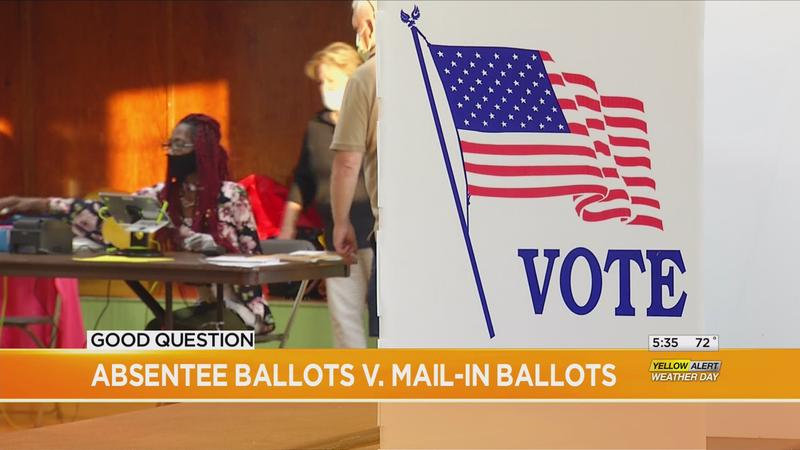 Good Question: Absentee vs. mail-in ballots