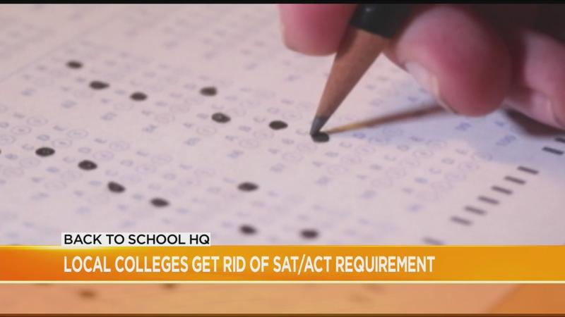 Local colleges waive SAT, ACT requirement