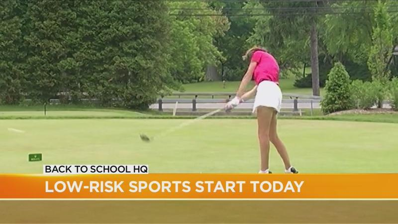 Low-risk school sports start practicing Monday