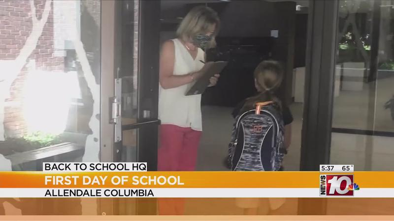 Students head back to school at Allendale Columbia