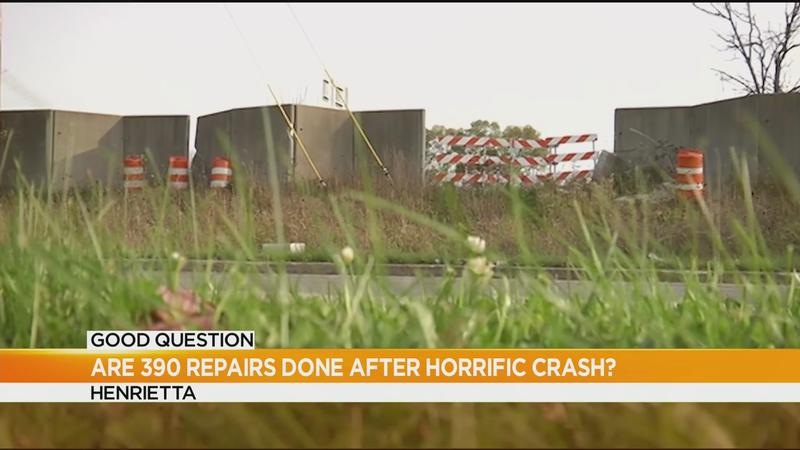 Good Question: Are I-390 repairs finished after horrific crash?